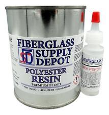 Polyester Resin w/hardener for laminating fiberglass mat, biaxle, cloth (Pint)