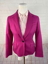 Talbots Women's Solid Pink Wool Blend Blazer 8P $195