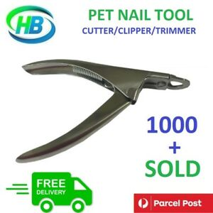 Pet Heavy Duty Nail Clipper Cutter Trimmer Cat Dog Rabbit Toe Claw Paw Care NEW