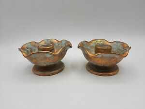 Set of Vintage MCM Stangl Pottery Candle Holders #5069 AS IS