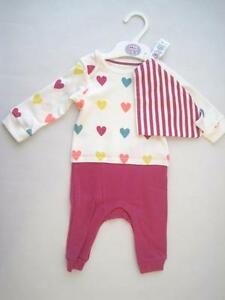 new baby girls faMouS high st summer romper bandana bib  outfit age 3-6 months