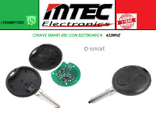 3 TASTI CHIAVE TELECOMANDO COMPLETO 433MHz CHIP SMART FORTWO FORFOUR ROADSTER