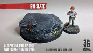 Big Slate 60mm Round Resin Base