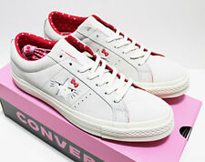 NIB RARE CONVERSE X HELLO KITTY MEN'S 10.5 SNEAKERS ONE-STAR GRAY/RED SUEDE