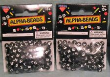 300 BLACK CUBE ALPHABET BEADS - NICOLE ALPHA-BEADS   This auction is for BLACK A