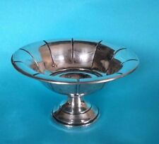 Art Deco Look 1963 Preisner sterling silver weighted 90g candy/nut dish. No 883