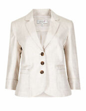 Linen Blazer Casual Plus Size Coats & Jackets for Women