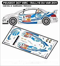 DECALS 1/43 PEUGEOT 307 WRC #5 - SARRAZIN - RALLYE DU VAR 2011 - MF-ZONE D43237
