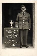 Putney Town Regatta Sculling Handicap Winner W.J.Kelly, RAF 1938. Rowing.