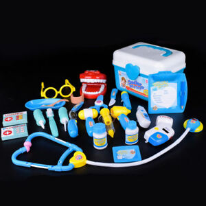 25Pcs Doctor Medical Play Set Toy Nurse Carry Box Kid Role Play Pretend Kit Case