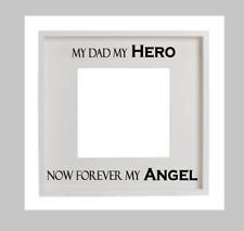 My Dad My Hero My Angel Decal Vinyl Sticker Box Frame Sympathy Card Display DIY