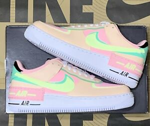 Nike Women's Air Force 1 Shadow  Artic Pink Barely Volt CU8591-601 Size 8.5