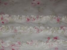 RARE PANEL PAIR SIMPLY SHABBY CHIC SHOWER CURTAIN CHERRY BLOSSOM RUFFLED ASHWELL