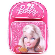 "Barbie Backpack 16"" Large School Girls Book Bag  Pink Jewels"