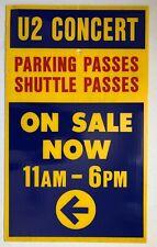 U2 360° RoseBowl Pasadena 2009 Us Org Concert Tour Parking Sign (Sturdy Plastic)