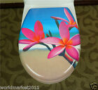 New European Style Beautiful Flowers Printed Resin Home Bathroom Toilet Seat
