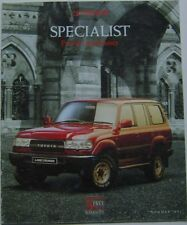 Toyota Gama especialista previa Land Cruiser Ii & Vx 1991 Original del Reino Unido Folleto