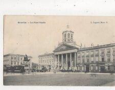 Bruxelles La Place Royale Belgium 1908 Postcard 907a