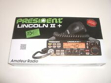 PRESIDENT LINCOLN II+ PLUS AM FM CW SSB 10/12m AMATEUR RADIO W/EXPANDED CHANNELS
