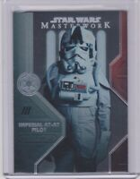 2020 Topps Star Wars Masterwork Imperial AT-AT Pilot Rainbow Card # 244/299