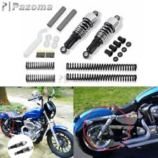Chrome Front Rear Shock Absorbers Lowering Kit For Harley Sportster XL 883 88-03