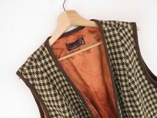 VTG252 Cambrian Vintage Chaleco Original Tweed Tejido en Gales Lana Pura Talla L