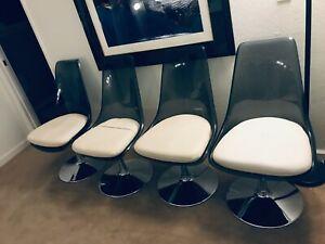70s 60s MCM Douglas Chromcraft Style Smoked Lucite Futuristic Chair Star Trek(1)