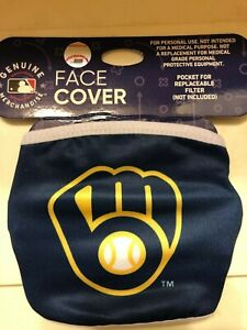 Milwaukee Brewers Retro Logo Licensed Face Mask Comfortable, Washable, Reusable
