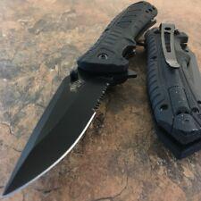 "8"" HALF SERRATED POCKET SPRING ASSISTED TACTICAL FOLDING KNIFE Fire Starter EDC"