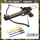 MINI 50 LB ARCHERY HUNTING Gun PISTOL CROSSBOW W/ THREE BOLTS ARROWS XBOW SET