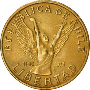[#382492] Coin, Chile, 5 Pesos, 1984, Santiago, AU(50-53), Aluminum-Bronze