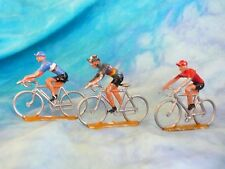 3 figurines de cyclistes en aluminium COFALU - SALZA ? Lot 15 (ref V23)