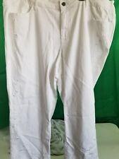 Capri Jeans White Stretch Earl Jean SZ 22W Orig $54.00 NEW NWT