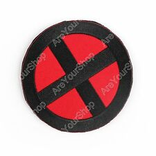"Marvel Comics X-Men Wolverine Movie Shoulder X 3.5"" Embroidered Patch Badge BLK."