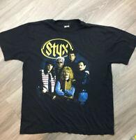 Styx Edge Of The Century 1991 Tour Rock Concert Vintage 90s T-shirt Size L