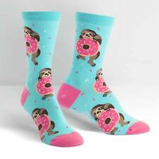Sock It To Me Women's Crew Socks - Snackin' Sloth