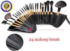 24 Pcs Professional Make up Brush Set Foundation Blusher Kabuki Brushes Set+CASE