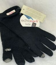 New listing Nwt Echo-Touch Kid's unisex black texting gloves Retail $32