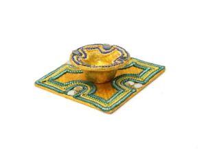 Mehndi Diya With Plate