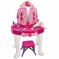 PRINCESS GLAMOUR MIRROR GIRLS VANITY DRESSING TABLE PLAY SET FUN TOY LIGHT GIFT
