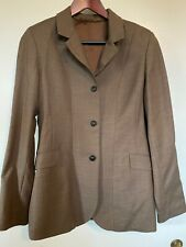 Ladies Ovation brown tweed super light wool hunt hunter Show Jacket/Blazer 14 L