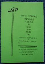 JAP 2 stroke engine models 80, C80, R80, RS80, S80 Instruction Book