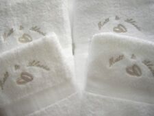 PERSONALISED 4 PIECE TOWEL GIFT SET WEDDING ANNIVERSARY