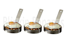 3 LARGE EGG RING PROFESSIONAL HEAVY DUTY CATERING CATERER FRIED FRYING PANCAKE