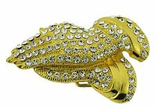Praying Hand Religious Belt Buckle Pray Piety New Mens Womens Iced Out Gold Holy