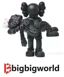 KAWS GONE NGV Limited Edition Companion BFF Vinyl Figures Black BRAND NEW