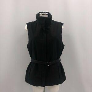 Prada Men's Belted Gilet EU Size 48 UK Medium Black Designer Stylish 293239