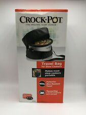 Crock-Pot Insulated Crock-Pot Slow Cooker Travel Bag, BLACK, Fits 4-7 Quart
