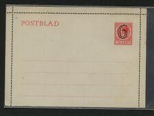 Netherlands  revalued postal letter card  unused               MS0121