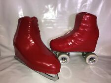 Red PVC Boot Covers for RollerSkates and Ice Skates  SMALL ONLY